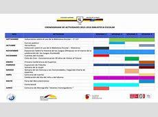 Cronograma de actividades 20152016