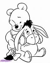 Pooh Coloring Pages Eeyore Disneyclips sketch template