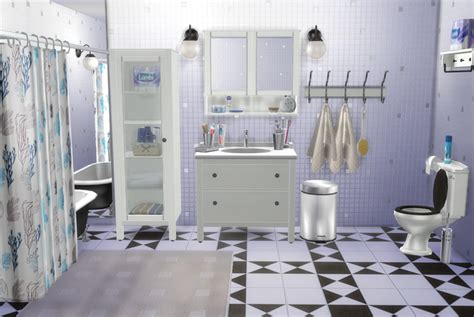 Ikea Hemnes Bathroom Collection by My Sims 4 Ikea Bathroom Set And Clutter By Natatanec