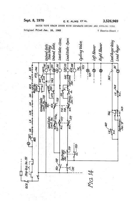 patent us3526969 batch type grain dryer with separate
