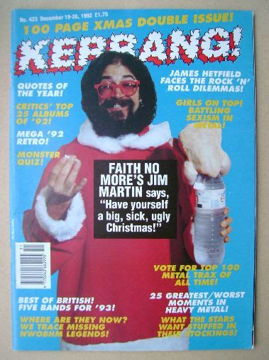 five minutes with martin edition magazine kerrang magazine jim martin cover 19 december 1992