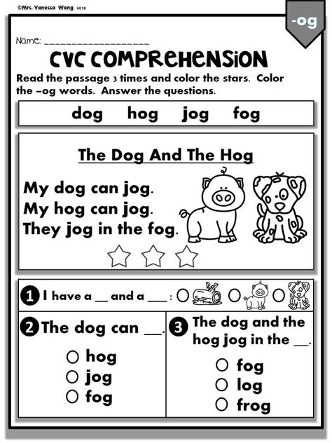 cvc reading worksheets  adipurwantocom