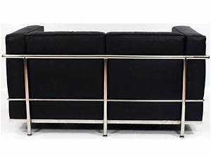 design mobel reproduktion lc2 2 sitzer le corbusier in schwarz als reproduktion sanjose