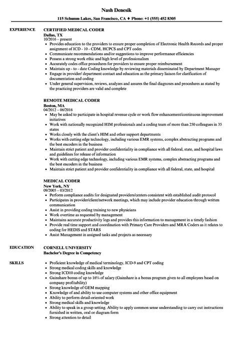 Billing And Coding Resume by Coding Resume Talktomartyb