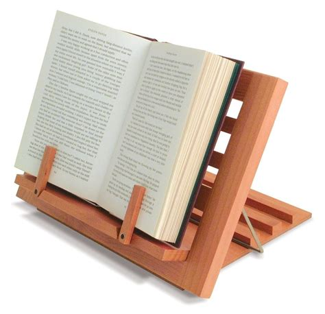 wooden reading rest book stand display holder  cookery