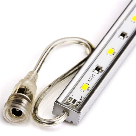 waterproof linear led light bar fixture w dc barrel