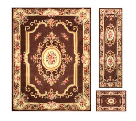 qvc rugs clearance royal palace alexandria wool 76x 96 rug with runner and