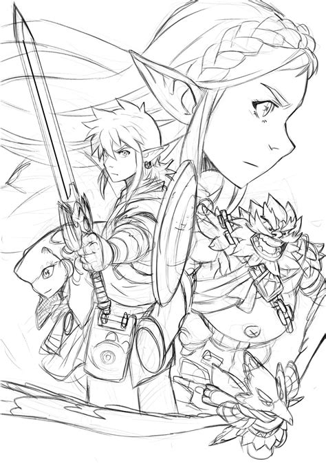 Legend Of Zelda Breath Of The Wild Coloring Pages The