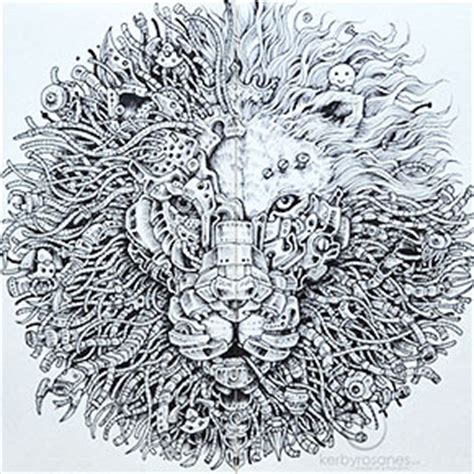 beautifully detailed  doodles  artist kerby rosanes