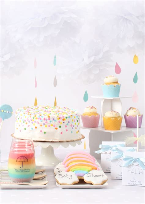 baby sprinkle decorations this is the sweetest a rainbow and clouds themed