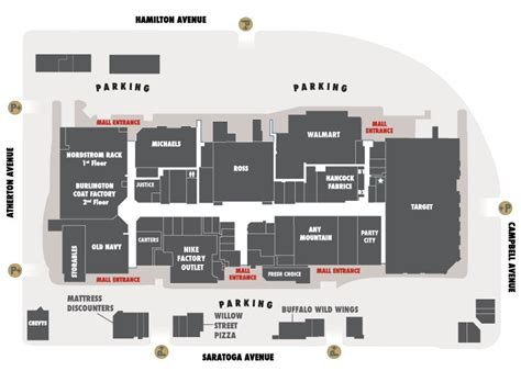Map for Westgate Mall Map, San Jose, CA 95129