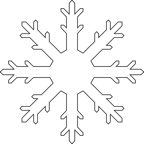 printable snowflake template snowflake colouring pages in the playroom