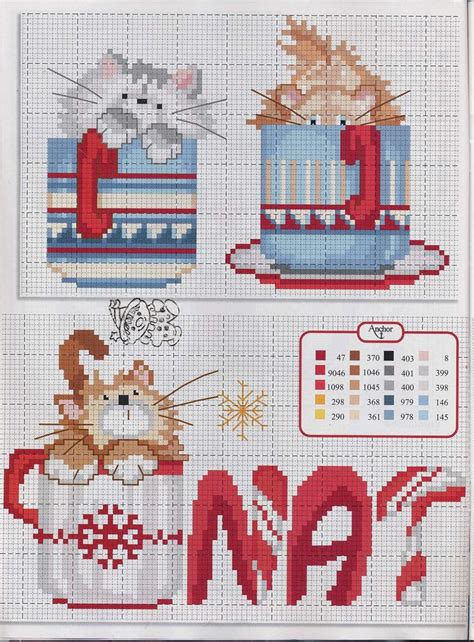 kitty   mug cross stitch chart punto croce cross