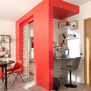 Castorama Cloison Amovible : un studio avec une cloison amovible coulissante castorama ~ Melissatoandfro.com Idées de Décoration