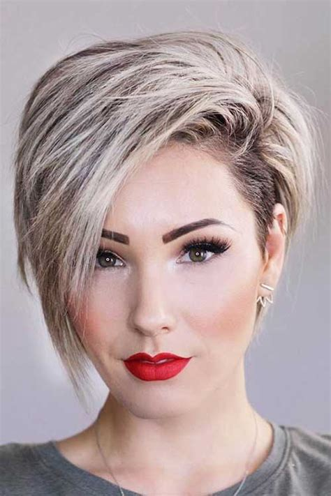 35 best layered short haircuts for round face 2018 short