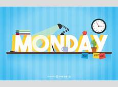 Monday study sign Vector download