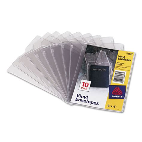 ave74806 avery top load clear vinyl envelopes w thumb