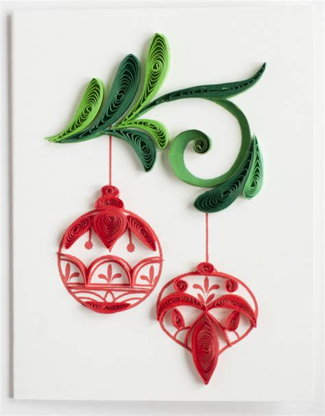 christmas ornament ge533 quilling card