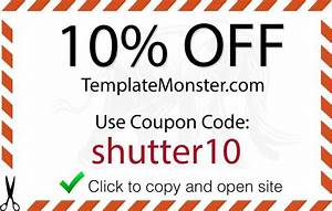 template monster promo code shutter muse With template monster coupons