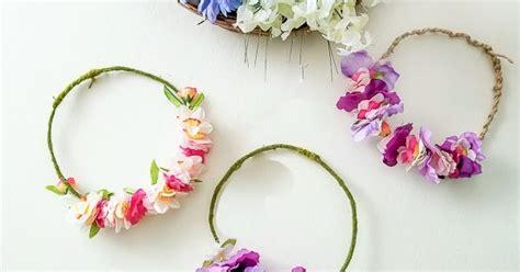 easy diy flower crowns  dollar store materials diy