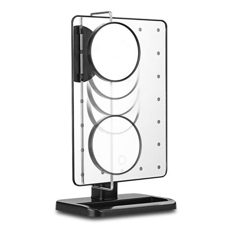 portable makeup mirror with lights portable lighted 10x magnifier 20 leds makeup cosmetic