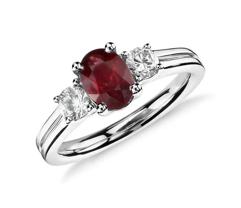ruby and ring in 18k white gold tanary jewelry