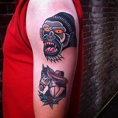 Tattoo Traditional Bach Oliver Arrow Indian Shoulder