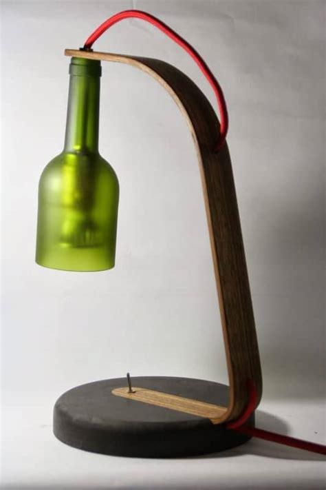 upcycled wine bottle desk lamp recyclart