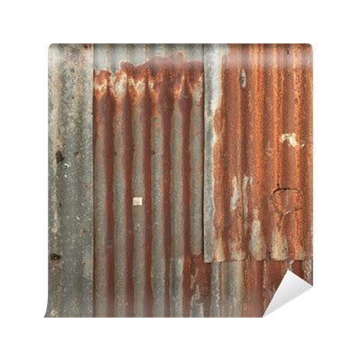 rusty corrugated metal wall texture background wall mural