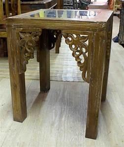 Table Haute Bois : table haute en bois de teck h 75 cm ~ Melissatoandfro.com Idées de Décoration
