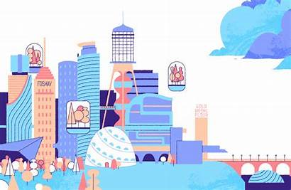 Economy Animated Industrial Revolution Cities Place Sharing