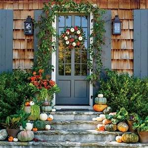 Incorporate White Pumpkins Pumpkin Ideas for Your Front
