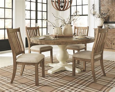 ashley grindleburg  piece  dining room table set