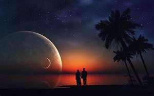 Marvelous night romantic couple