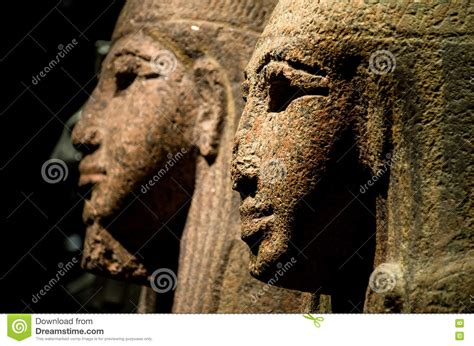 egyptian sphinx statue broken nose editorial image image