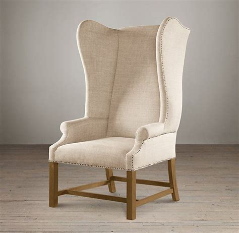upholstered wing chair chair chic