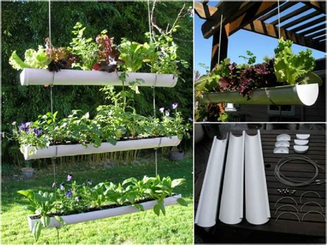 How To Do A Vertical Garden by How To Make Hanging Gutter Vertical Garden How To