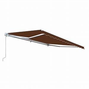 Aleko 10 Ft  Manual Patio Retractable Awning  96 In