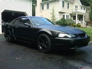 2000 mustang gt flat black   Mustang, Black mustang, New edge mustang
