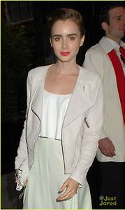 Lily Collins Keeps it Light for a Night Out at the ...