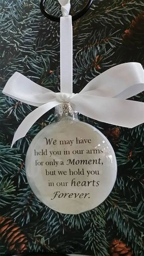 baby loss and christmas in memory miscarriage child loss ornament glass quot we held you for a moment in our