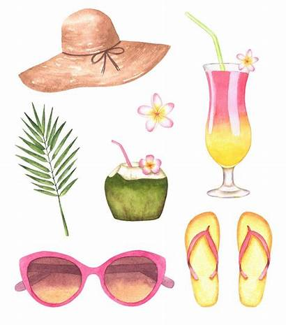 Clipart Beach Watercolor Summer Clip Party Pool