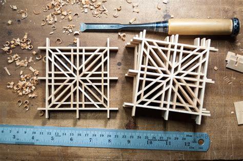 masu tsunagi kumiko pattern big sand woodworking