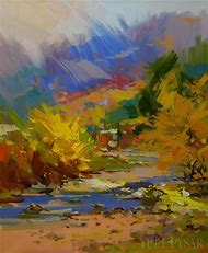 Abstract Art Oil Painting Landscape