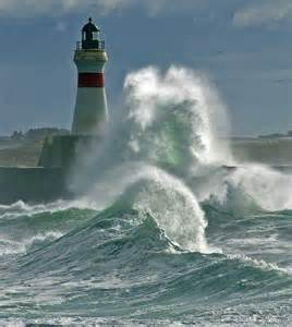 Scotland Lighthouse Waves