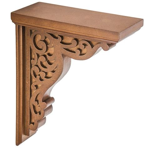 Carved Wood Corbels by Rustic Corbels Brackets Carved Scroll Wood Corbel Set Of
