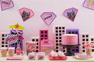 Pink Comic Book Superhero Party Ideas | Party Delights Blog