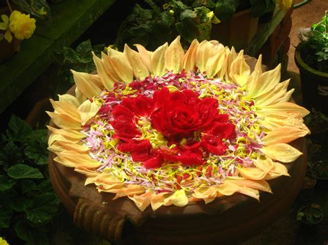 floating flower decorations rangoli designs pooja room