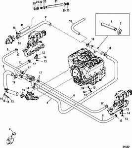 Mercruiser 4 3l Carburetor Alpha    Bravo Standard Cooling System Parts