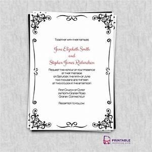 free pdf invitations retro border wedding invitation With wedding invitation online pdf